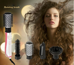 Vente en gros - 2016 Électrique Automatique Rotating Multifonctionnel Sèche-cheveux Wet Brush Bouclés Beauty Set 4 in1 EU Plug Styling Tool à partir de fabricateur