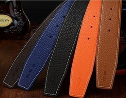 Wholesale H Buckles - Free Shipping H buckle male leather belt male fashion belt casual leather smooth buckle people