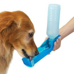 Wholesale indoor dog - Portable Pet Dog Cat Travel Water Drink Bottle Bowl Dispenser Feeder Plastic Foldable Pet Water Bowl free shipping (7)
