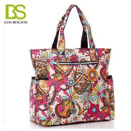 Wholesale Large Shopper - Bags for Women Bao Bao Multi Pocket Shoulder Bags Beach Bag Flower Printing Nylon Totebag Weekend Bag to Travel Shopper Bolsos H043