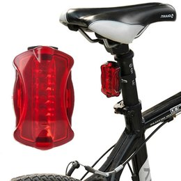 Wholesale Used Tail Lights - Wholesale- High Quality Bike Light 5 LED Bike Rear Tail Light Red Bicycle Lamp Use 2 X AAA Battery Bike Taillight Waterproof Bicycle Led