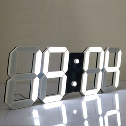 Wholesale Digital Count Up Display - Large Display Led Wall Clock with Remote Control Countdown Count Up Led Clock Timer with Temperature Date 6'' White Led Digits High Visible