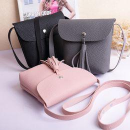 coreia do sul bolsas Desconto Nova Moda Japão e Coréia Do Sul nova simples mini saco de borla pequena bolsa carteira pequena bolsa de Mensageiro