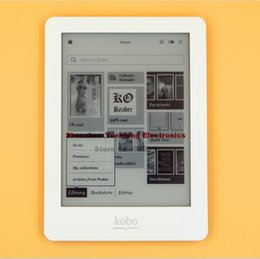 Wholesale E Book Reader Kobo - Wholesale- 4 colors Kobo Glo eBook eReader N613 e-Book Touch screen e-ink 6 inch 1024x768 2GB WIFI book Reader