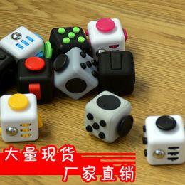 Wholesale Colors Vinyl - 2017 11 colors Magic Fidget Cube a vinyl desk toy New Fidget Cube anti irritability toy magic cobe Funny Christmas gift stock