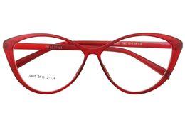 Wholesale Blue Prescription Glasses - Wholesale- Agstum Fashion Ladies Women Vintage Cat Eye Full Rim Clear Lens Eyeglass Multi Black Blue Frame Eyewear Glass Prescription TR90