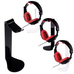 decodificador de áudio óptico Desconto Novo Design de L-forma Durável Profissional Headset Stand Titular Rack de Acrílico para A Maioria Dos Fone de Ouvido