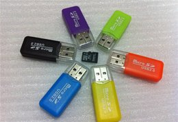 Wholesale micro usb 64gb - Epacket Free Shipping High Speed USB 2.0 Micro SD card T-Flash TF M2 Memory Card Reader adapter 2gb 4gb 8gb 16gb 32gb 64gb TF Card