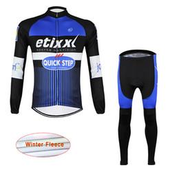 Wholesale Quick Step Bib - 2017 team etixx quick step pro cycling winter Thermal Fleece jerseys long-sleeve Racing Bicycle ciclismo cycling clothing bib pants D1412