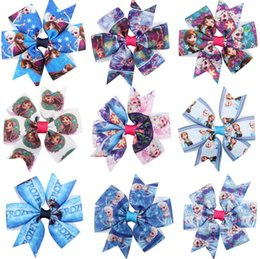 Wholesale Tie Clips Order - Brand new The new snow and ice curiosity bow tie hair hot Yan tail section children hair ornaments FJ116 mix order 60 pieces a lot