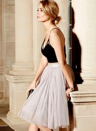 Wholesale Cheer Tops - Top Design Women Elegant Summer Style Long Skirts Sexy Fashion All in Good Cheer Grey Tulle Skirt cheap Price