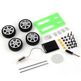 Wholesale Solar Diy Educational Kit - Mini Solar Powered Toy DIY Car Kit Children Educational Gadget Hobby Funny