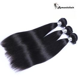 Melhor cabelo humano peruano on-line-9A Cabelo Liso Brasileira Malaio Não Transformados Peruano Cambojano Indiano Feixes de Cabelo Humano Em Linha Reta Melhor Extensões de Cabelo Humano tramas