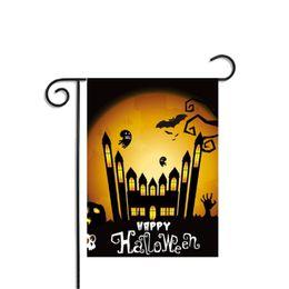 Zucca da giardino online-Halloween Flags Pumpkin Party Home Garden Supplies Bat Decor Poliestere Banner Decorativo Decorazione interna Accessorio Ornament Bar Flag