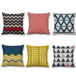 Wholesale Cushioned Car Covers - Biodawn Cotton Linen Home Decoration Decorative Throw Pillow Case Pillowcase Car Sofa Cushion Covers Geometry 45cm x 45cm