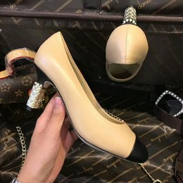 Wholesale Pearly Whites - European classical style luxury shoes high heels dress shoes leather shoes set foot pure pearly heel