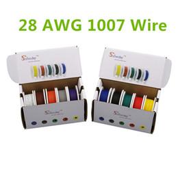 50m UL 1007 28AWG Caja de mezcla de 5 colores 1 caja 2 paquetes Cable eléctrico Línea de línea aérea Cobre Cable de PCB desde fabricantes