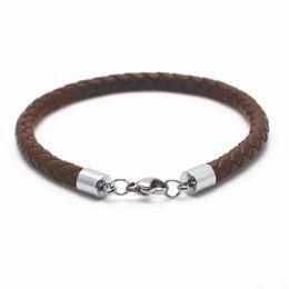 Wholesale Gray Meaning - FREE SHIPPING 10PCS 2017 Hot Selling Diy Fashion Jewellery Italy Shining Elegant Mean Leather Bangle, Men Leather Bracelet ,