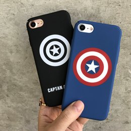 Wholesale Iphone Clothes - Cell Phone Cases Personalized creative Phone7plus phone shell 6s frosted all-clad hard shell superman American captain 009