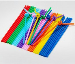 Wholesale Straws Wedding Drinking - Wholesale-100pcs Mixed Colors Flexible Bendy Plastic Disposable Drinking Straws Bar Cafe Milk Cocktail Decor Wedding Event Supplies