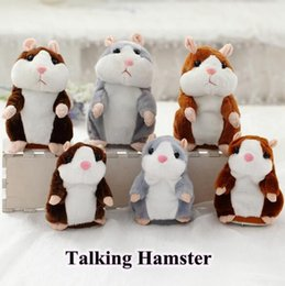weihnachtsspielzeug verpackt Rabatt 3 farben 15 cm neue sprechende hamster plüsch party toys sprechen sound record hamster plüschtier kinder weihnachtsgeschenke mit opp paket cca7742 100 stücke