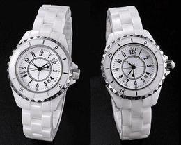 Wholesale Men Real Watches - J12 lovers watch 2017 new men's women's fashion watches Designer ceramic watches women casual watch 100% real ceramic men Luxury watches