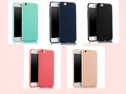 Wholesale Iphone Skin Protect - Super Soft Clear TPU matte Case For Iphone 5 5S 6 6s 6s plus 7 7 plus Crystal Back Protect Skin Silicone Cover