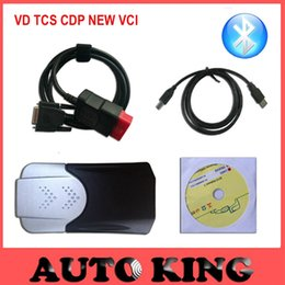 Wholesale Diagnostic Tools Trucks - Wholesale- Factory Sale!! Best 2015.1 new vci with bluetooth vd tcs cdp pro for cars trucks auto diagnostic obd2 scan tool Free Ship