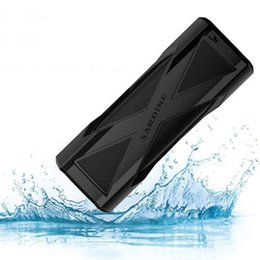 Wholesale Bank Dc - Original A6 Wireless IP6 Waterproof Sport Bluetooth Stereo Speaker with Super Bass Support MIC DC out 4000mah Power Bank