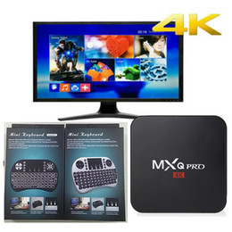 Wholesale Mini Hdmi Keyboard - MXQ Pro 4K Android 6.0 TV Box RK3229 Quad Core 1GB 8GB With I8 Mini Wireless Keyboard Backlit Loaded Jarvis 16.1