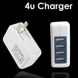 2019 15w iphone charger 3.1 A 15W высокая скорость 4 порта USB зарядное устройство путешествия зарядное устройство адаптер питания с складной штекер для iPhone 7 Android DHL OTH361 дешево 15w iphone charger