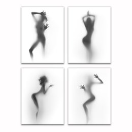 Wholesale Women Sexy Figures - HD Photo Giclee Canvas Prints Nude Sexy Women Picture Canvas Prints Unframed Living Room Decoration(30cmx40cmx4)