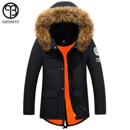 Wholesale Winter Man Goose Down Parka - Wholesale- Asesmay 2016 Brand Thickening Winter Coat France Goose Jacket Winter Feather Jacket Men Fur Hooded Casual Duck Down Parka