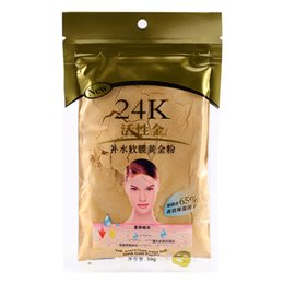Wholesale Wholesale Gold Masks - Wholesale big quantity 24K Gold Collagen Face Mask Powder for Beauty Salon Spa Treatment Moisturizing 5pcs Free shipping