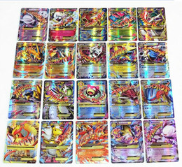 Wholesale Pokemon Games Cards - No Repeat English POKE GX Trading Card 60 70 Card 60 Mega Cards EX Cards For TCG Cards Games KIDS TOY AS A GIFT Free Shipping
