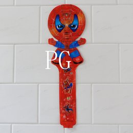 Wholesale Inflatable Clapper Sticks - new arrivel !!! 100pcs lot 78*25cm spiderman cheering stick balloon clappers inflatable balloon stick
