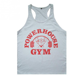 Wholesale Wholesale Printing Equipment - Wholesale- Mens Tank Tops Bodybuilding Equipment Fitness Brand Singlets Men's Tank Shirts Clothes