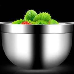 Wholesale Egg Beat - 2017 Bakeware Stainless Steel Silicone Bottom Prevent Splash Egg Beating Pan Mixing Bowl Kneading Basin Fermentation Pot Tools