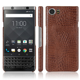Wholesale Hard Cover For Blackberry - For Blackberry Keyone Case Leather 4.5 inch Luxury Hard PU Leather Phone Case For Blackberry Keyone DTEK70 Case Protective Back Cover