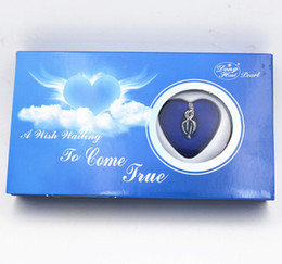 """Wholesale Sliding Kits - Great holiday Gift Love Wish Pearl Kit Heart Cage 17"""" chain Necklac Blue sky"""
