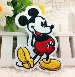 Wholesale Garment Accessories Patches - Mickey Mouse Embroidered patch iron on Motif Applique, garment embroidery patches DIY accessories 20pcs lot free shipping
