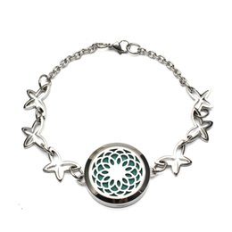 Wholesale Bracelet Link Types - 30MM Aromatherapy Essential Oil Diffuser Chrysanthemum Locket Bracelet ,Five chain types are optional