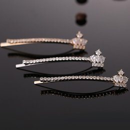 Wholesale White Rose Wedding Hair Clips - New Elegant Womens Crown CZ Pearl Hair Clips Wedding Floral Bridal Rose Champagne Gold Platinum Hair Jewelry High Quality for Wholesale