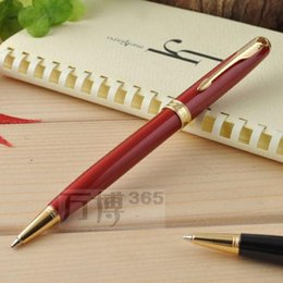 Wholesale Blue Pen Parker - Writing Pen Stationery Office Supplies High Quality Ballpoint Pen Promotion Parker School Pens Red Hot Selling