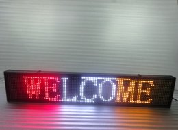 Wholesale Display Led Moving Sign - 2016 Hot Sale Graphics Semi-outdoor p10 Led Sign Moving Board Programmable Display 100cmX20cm red white yellow colour