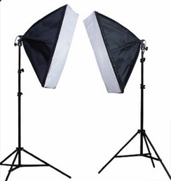 Wholesale Portrait Photography Photos - Hot Sell Photo Studio Set 2 X Lighting Stand +2 X Soft Box Photo Studio Kit Photography Studio Portrait Product