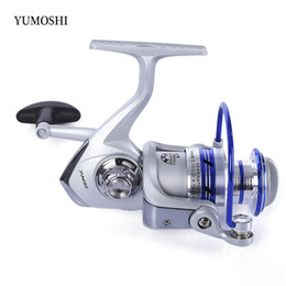 Wholesale Flying Gear - YUMOSHI Fishing Reel 12BB Half Metal Spinning Reel 5.5:1 Gear Ratio Aluminum Spool Reels Fishing Tackle With Foldable Handle +B