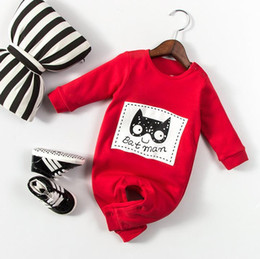 Wholesale Cartoon Animal Cotton Baby Rompers - New Spring Autumn Infant Baby Cartoon Batman Rompers Long Sleeve Kids Toddlers Climb Clothes Children Boys Girls Cotton Rompers W026