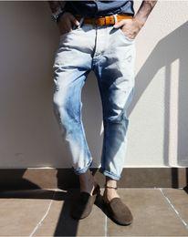 Wholesale Denim Retro Top - Wholesale-2016 Brand men Jeans Straight New Fashion Top quality High Grade Slim jeans Straight Retro men Denim jeans
