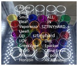 Wholesale Aspire Glass - Colorful Replacement pyrex glass tubes for aspire Atlantis v2 EVO 2ML 4ML Triton 2 mini nautilus x 2 Cleito 120 tank